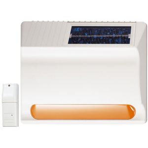 Wireless solar siren