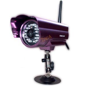 TELECAMERA WIFI IP A COLORI DA ESTERNO 24 LED IP CAM GESTIONE REMOTA PC SMARTPHONE
