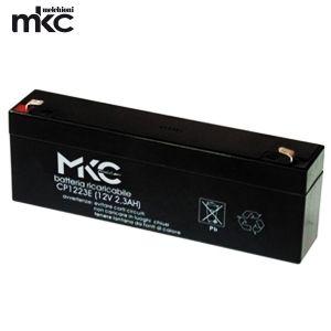 BATTERIA MKC 12V 2.3A TAMPONE PER SIRENE DA ESTERNO AL PIOMBO FASTON 4.8MM