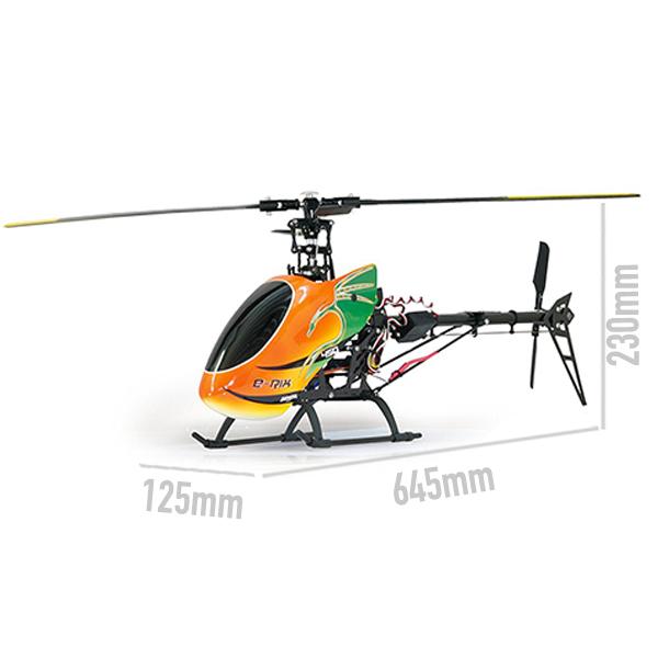 Elicottero e rix 450 radiocomandato 6 canali 2 4 ghz 3d for Kit da garage a 4 canali