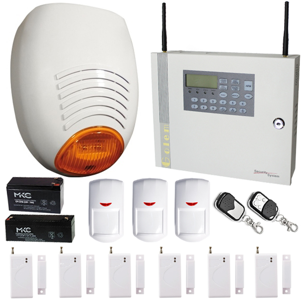 Kit allarme antifurto gsm wireless sirena sr 136 golden - Antifurto wifi casa ...