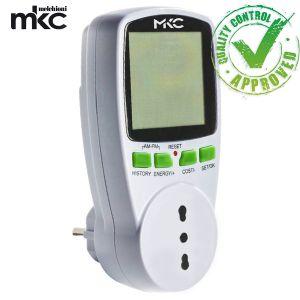 MISURATORE CONSUMO ELETTRICO RICONDIZIONATO ELETTRODOMESTICI ELETTRICI DISPLAY LCD MELCHIONI MKC