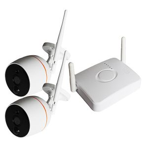 KIT TELECAMERE WIFI VIDEOSORVEGLIANZA WIRELESS 1.3 MPX PRONTO USO CAMERA 960P IR