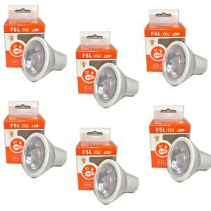 KIT LAMPADINE FARETTO LED 500LM 6W ANTIRIFLESSO 3000K IP20 GU10 LAMPADA FSL 6 PEZZI