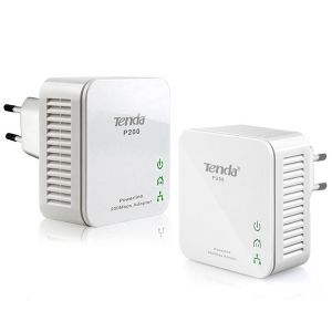 KIT 2 POWERLINE ADATTATORI ETHERNET TENDA P200 MBPS CONFIGURATI PRONTO USO