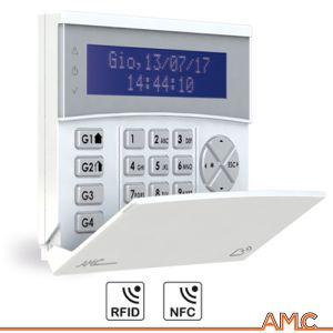TASTIERA LCD BLU CON LETTORE RFID/NFC INTEGRATO AMC K-LCD BLUE TAG ANTIFURTO ALLARME