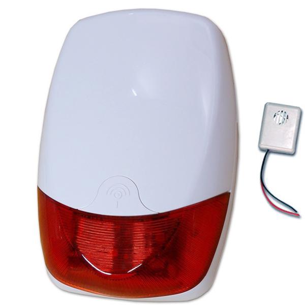 Sirena wireless senza fili wifi lampeggiante rosso da esterno per allarme antifurto - Antifurto per esterno ...