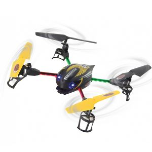 QUADRICOTTERO ACROBATICO Q-DRONE CON TELECAMERA + LED COLORATI 2,4GHZ DRONE RADIOCOMANDATO