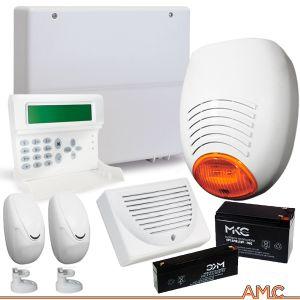 KIT ALLARME FILARE AMC ITALIA C24PLUS GSM SENSORI DOPPIA TECNOLOGIA SIRENA ESTERNA LED