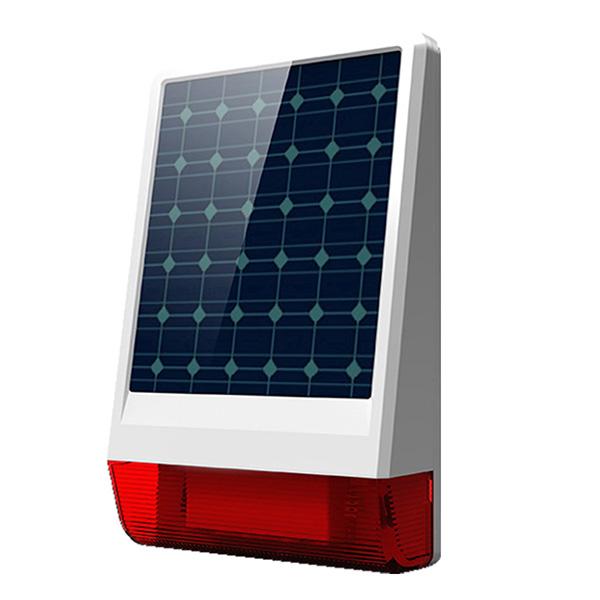 Pannello Solare E Batteria : Sirena solare wireless da esterno con pannello e