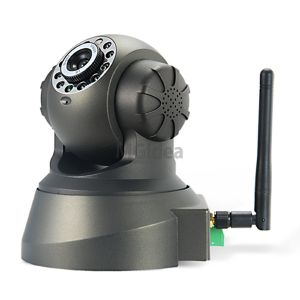 CAMERA IP TELECAMERA CAM WIRELESS WIFI INFRAROSSI MOTORIZZATA IPCAM 10 LED LAN