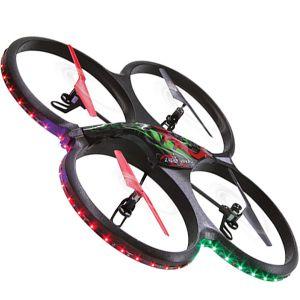 DRONE QUADRICOTTERO LUCI LED TELECAMERA FLYSCOUT RADIOCOMANDATO ACROBATICO SD 4GB