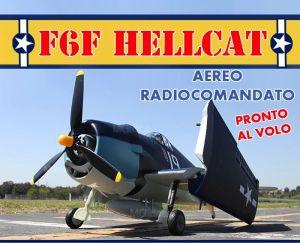 AEREO F6F HELLCAT U.S.A. BRUSHLESS + LIPO ELETTRICO RTR PRONTO AL VOLO