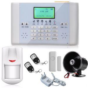ALLARME ANTIFURTO WIRELESS DISPLAY LCD GSM LIVING 2 CON SIRENA INTERNA CASA UFFICIO NEGOZIO