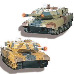 SET 2 CARRI ARMATI PANZER LEOPARD II 2,4GHZ BATTAGLIA CINGOLATI TORRETTA MOBILE INFRAROSSI RC