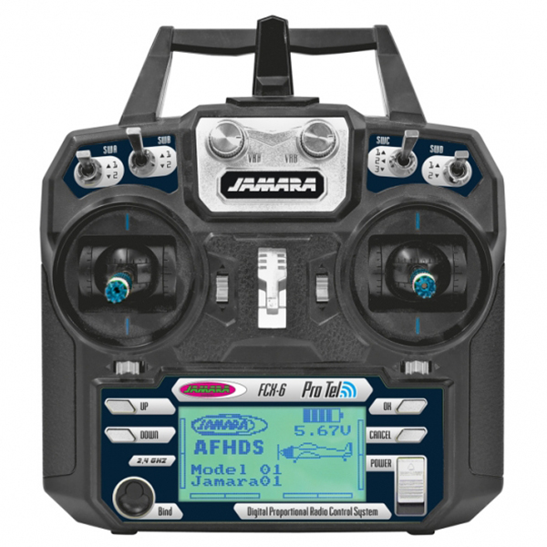 Radiocomando Radio Rc Fcx 6 6 Canali 2 4 Ghz Display