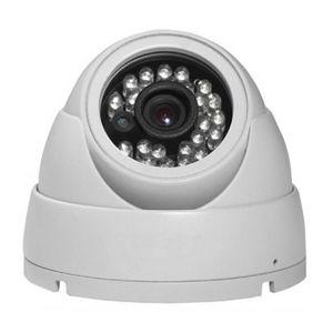 TELECAMERA DOME VIDEOSORVEGLIANZA CCD ESTERNO/INTERNO IP 65 24 LED 900 TVL 3.6MM