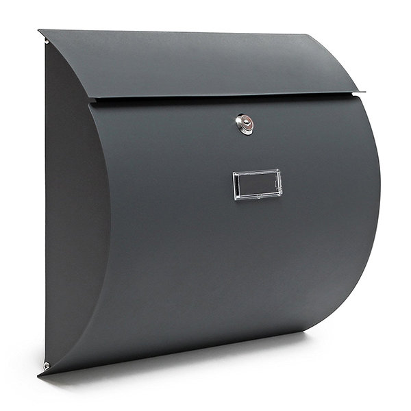 V17 cassetta posta postale lettere design antracite - Cassetta postale design ...