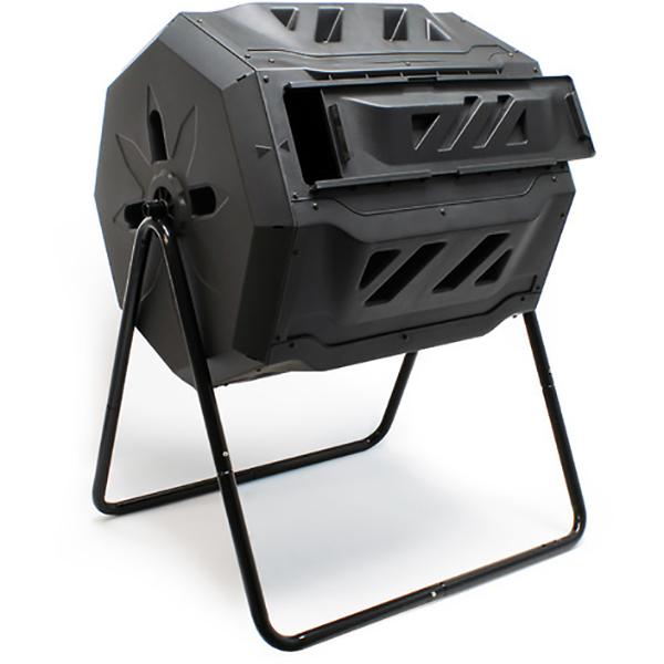 Compostiera rotante da giardino composto doppio cestello for Completi da giardino
