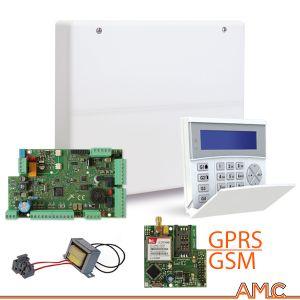 SERIE X824 CENTRALE ANTIFURTO + GPRS ALLARME AMC ITALIA X 824 + TASTIERA K-BLUE APP SMARTPHONE
