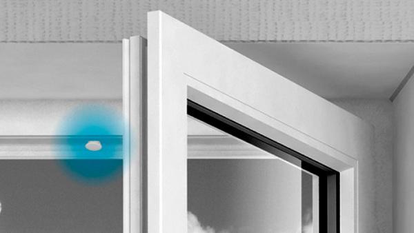 Sensore contatto magnetico porte finestre termoplastico incasso filare allarme - Antifurto porte e finestre ...