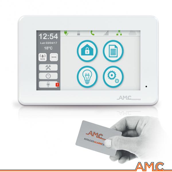 Tastiera unika touch screen display colori amc italia allarme serie x antifurto - Migliori allarmi per casa ...