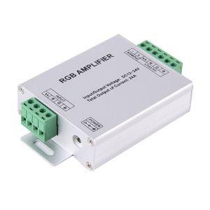 MODULO AMPLIFICATORE SEGNALE RGB 3 CANALI  DC12V~24V 24A LED IMPIANTI