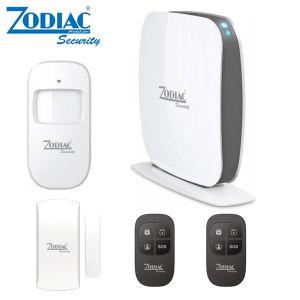 KIT ALLARME WIRELESS ZODIAC Z2 SIM GSM APP SMARTPHONE SENSORI TELECOMANDI INCLUSI ANTIFURTO