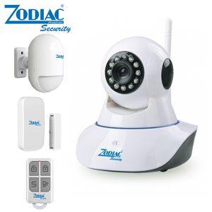 TELECAMERA ALLARME WIFI IP CAM 2MPX ZODIAC + SENSORE PIR + P/F + TELECOMANDO VIDEOSORVEGLIANZA