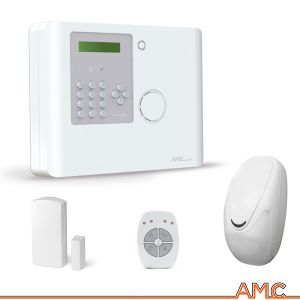 KIT 570 ALLARME WIRELESS ANTIFURTO AMC ITALIA XR800 SERIES COMPLETO PSTN GPRS/3G IP SENZA FILI