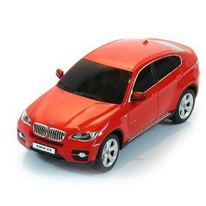 BMW X6 1:24 ROSSA RADIOCOMANDATA ELETTRICA MODELLO IN SCALA ORIGINALE LUCI FARI STOP
