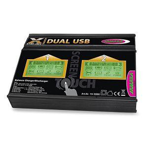 BILANCIATORE CARICA BATTERIA LIPO X-PEAK 100 DUAL USB SCHERMO LCD TOUCH SCREEN